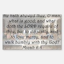 Micah 6:8 Decal