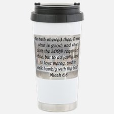 Micah 6:8 Travel Mug