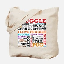 Puggle Words Tote Bag
