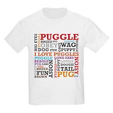 Puggle Words Kids T-Shirt