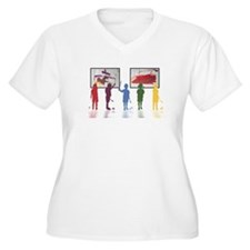 abstarct painting by children Plus Size T-Shirt
