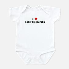 I Love baby back ribs Infant Bodysuit