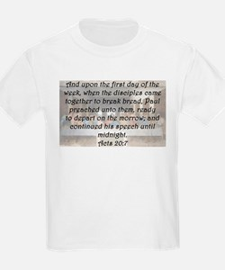 Acts 20:7 T-Shirt