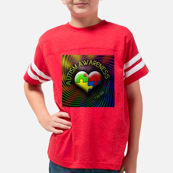 autismawareness-1in88-roundor Youth Football Shirt
