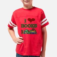 I Love Books Youth Football Shirt