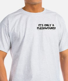 Fleshwound (black) Ash Grey T-Shirt