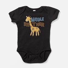 Middle Bro Giraffe Baby Bodysuit