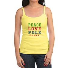 Peace Love Pole Dance Designs Jr.Spaghetti Strap