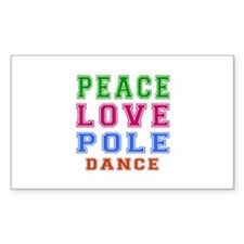 Peace Love Pole Dance Designs Decal