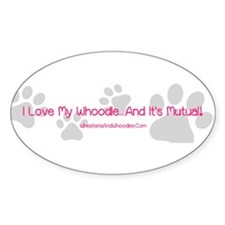 Cute I love my whoodle Decal