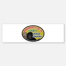 Property Of A Whoodle Bumper Bumper Bumper Sticker