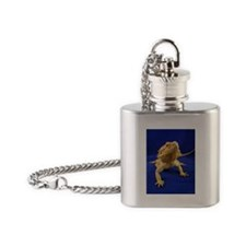 Bearded Dragon Flask Necklace