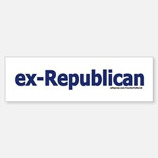exREPUBLICAN Bumper Car Car Sticker