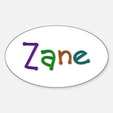 Zane Play Clay Oval Decal