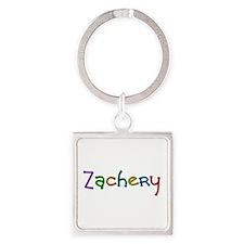 Zachery Play Clay Square Keychain