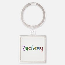 Zachery Play Clay Square Keychain