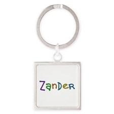 Zander Play Clay Square Keychain