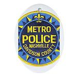 Nashville Police Oval Ornament