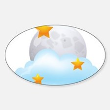 Moon - Night - Weather - Stars - Space Decal