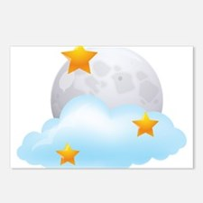 Moon - Night - Weather - Stars - Space Postcards (