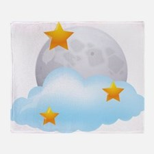 Moon - Night - Weather - Stars - Space Throw Blank