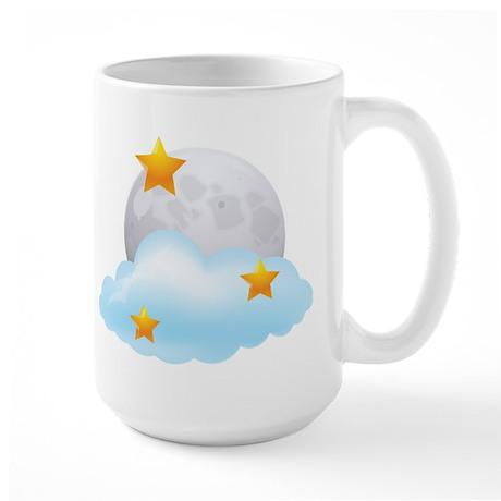Moon - Night - Weather - Stars - Space Mug
