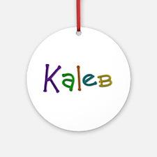 Kaleb Play Clay Round Ornament