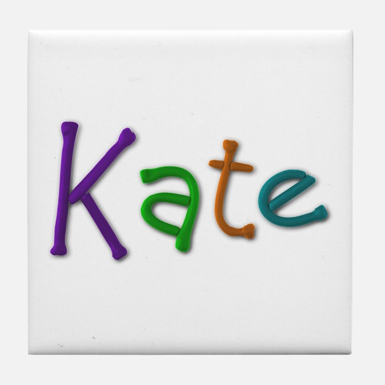 Kate Play Clay Tile Coaster