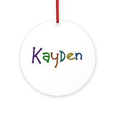 Kayden Play Clay Round Ornament