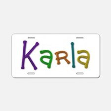 Karla Play Clay Aluminum License Plate