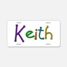 Keith Play Clay Aluminum License Plate