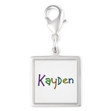 Kayden Play Clay Silver Square Charm