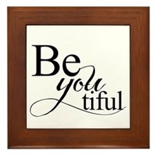 Be you tiful Framed Tile