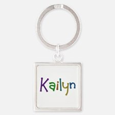 Kailyn Play Clay Square Keychain
