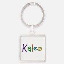 Kaleb Play Clay Square Keychain