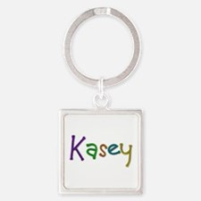 Kasey Play Clay Square Keychain