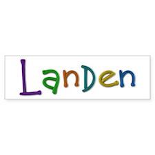 Landen Play Clay Bumper Bumper Sticker