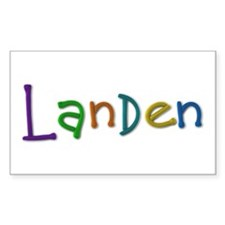 Landen Play Clay Rectangle Decal