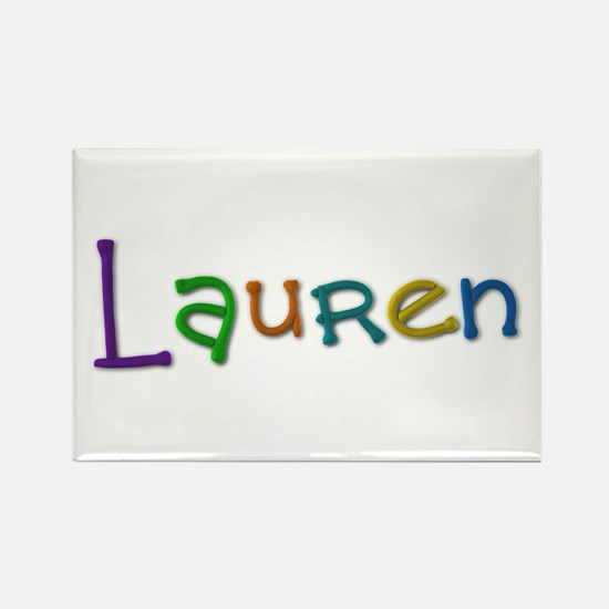 Lauren Play Clay Rectangle Magnet