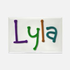 Lyla Play Clay Rectangle Magnet