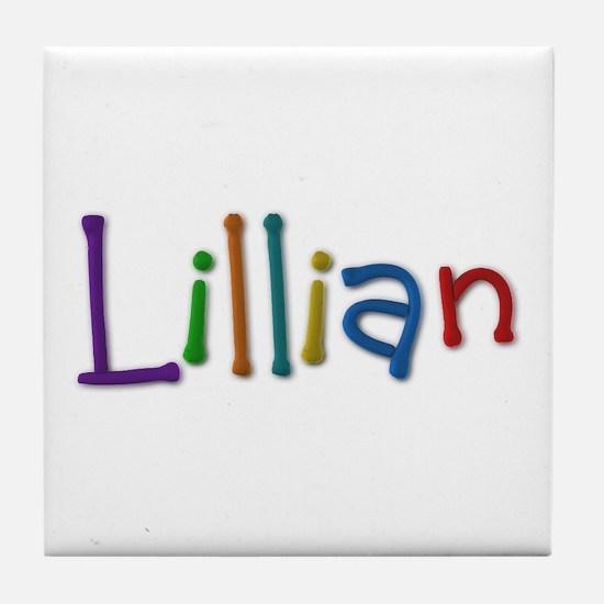 Lillian Play Clay Tile Coaster