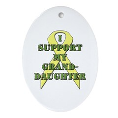 I Support My Granddaughter Oval Ornament