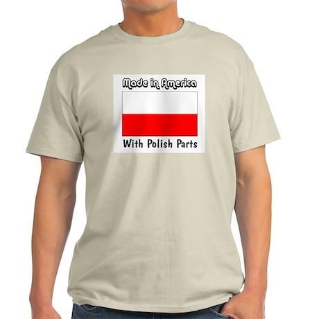 Polish Parts Ash Grey T-Shirt