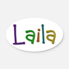 Laila Play Clay Oval Car Magnet