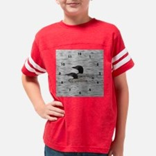 3-loon_clock Youth Football Shirt