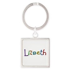 Lizbeth Play Clay Square Keychain