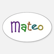 Mateo Play Clay Oval Decal