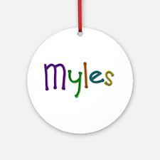 Myles Play Clay Round Ornament