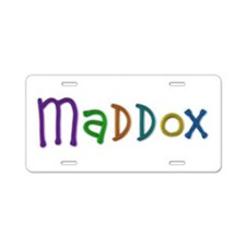 Maddox Play Clay Aluminum License Plate