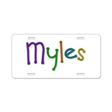 Myles Play Clay Aluminum License Plate